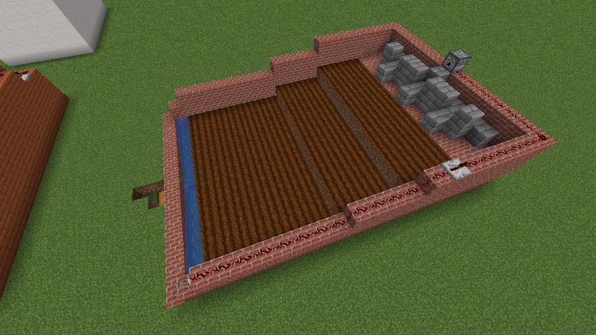 シンプルな小麦自動収穫機