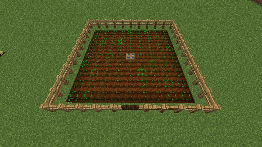 畑をフェンスで囲う