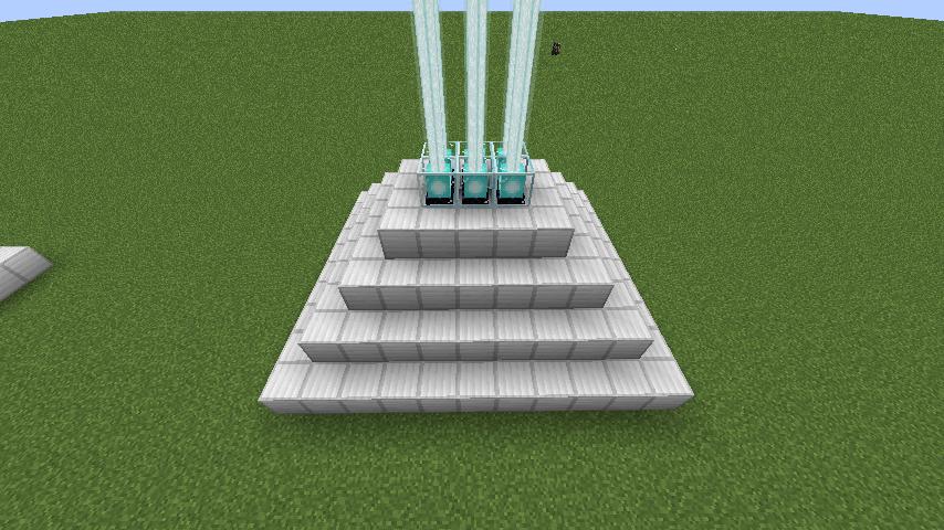 1つのピラミッドに複数のビーコンを設置する方法