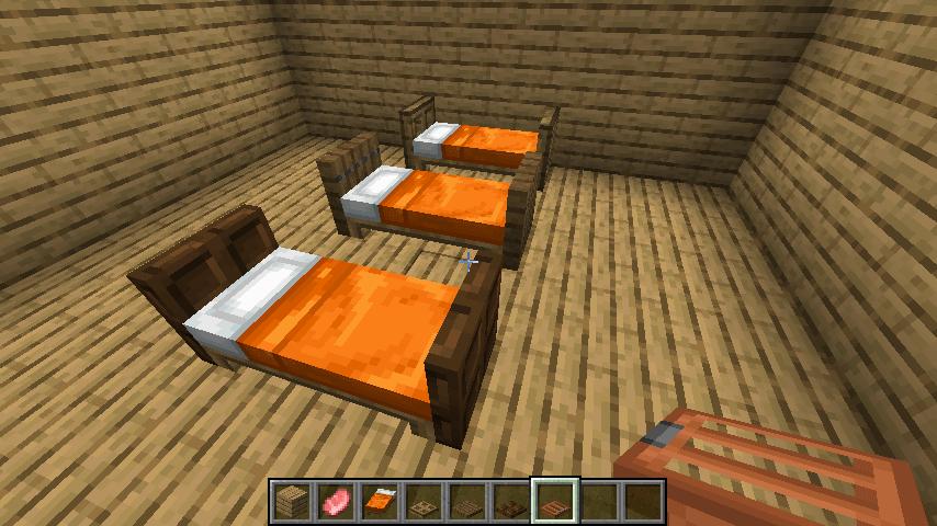 シンプルなベッド①