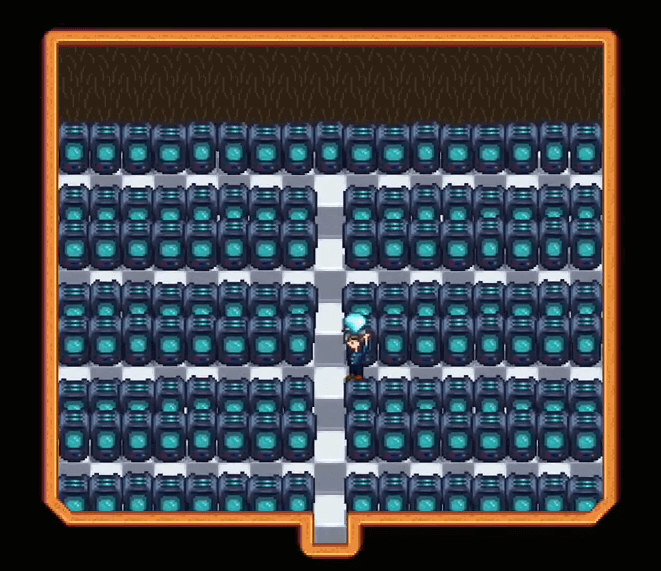 納屋にある結晶コピーマシン