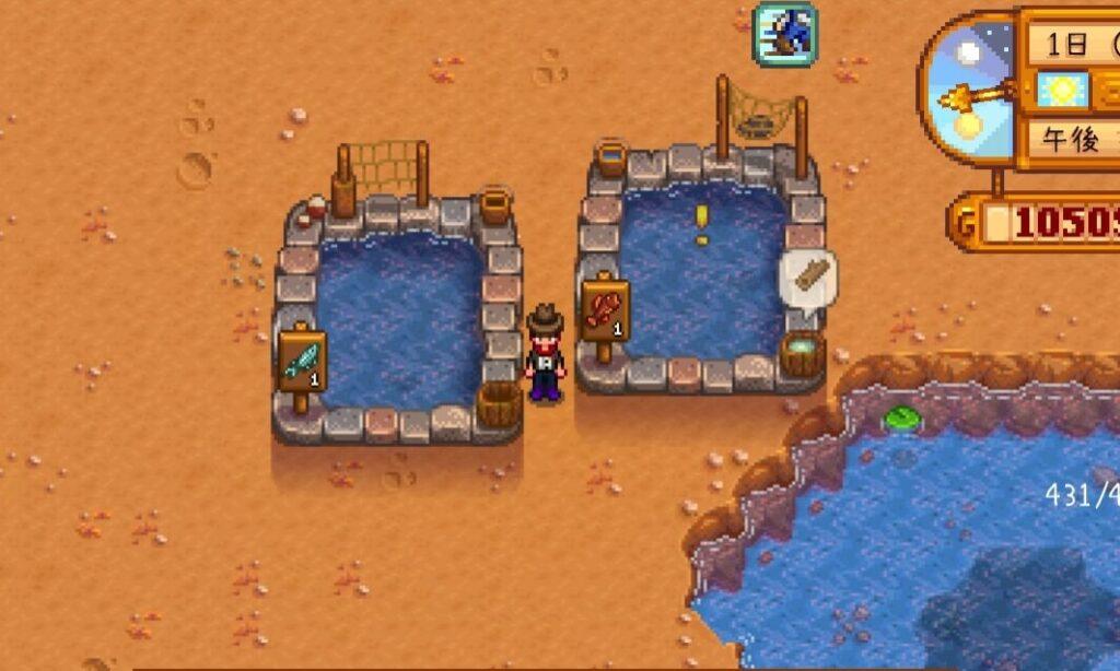 魚の養殖(魚のいる池)