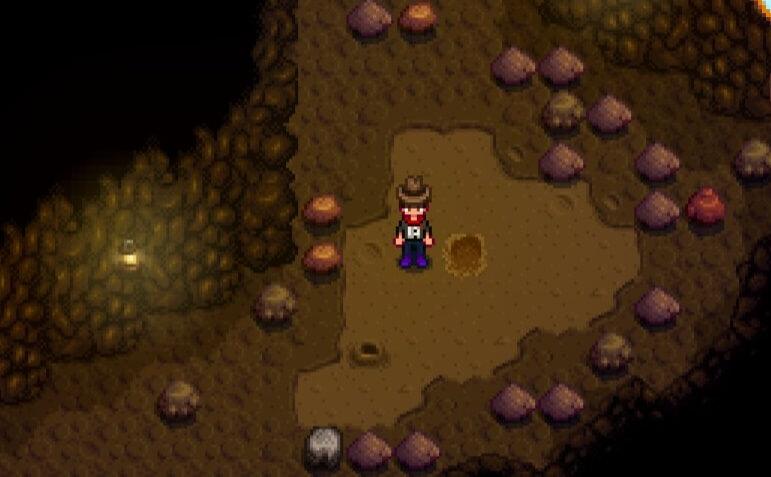 鉱山の土を耕す