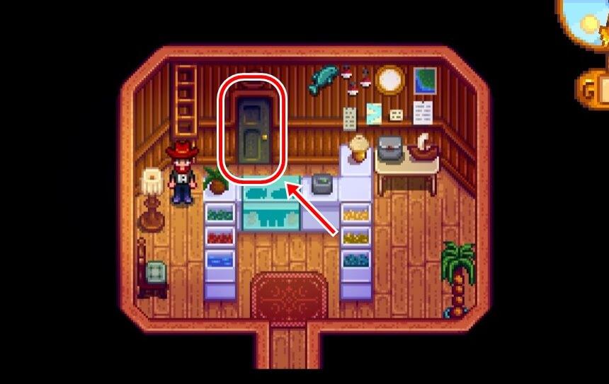 ウィリーの釣具店の扉